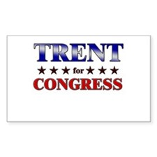 TRENT for congress Rectangle Decal