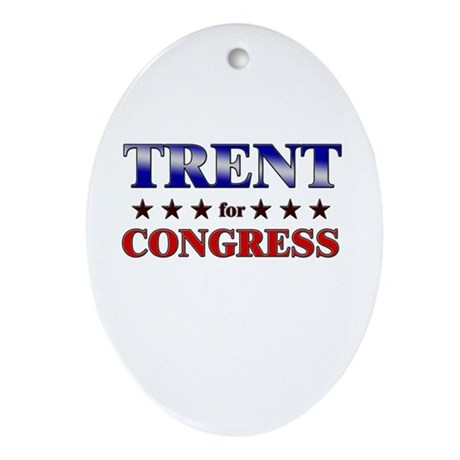 TRENT for congress Oval Ornament