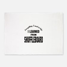I learned from Shuffleboard 5'x7'Area Rug