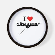 I Love YANKEES Wall Clock