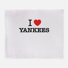 I Love YANKEES Throw Blanket