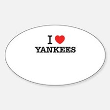 I Love YANKEES Decal