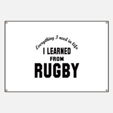 I learned from Rugby Banner