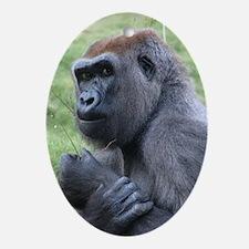 Helaine's Gorilla Ornament (Oval)