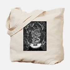 modern cavemen in cave of their possessio Tote Bag
