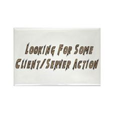 Client/Server Action Rectangle Magnet