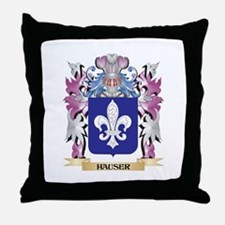 Hauser Coat of Arms (Family Crest) Throw Pillow