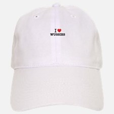 I Love WUSSIES Baseball Baseball Cap