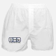 Eat, Sleep, White Water Rafti Boxer Shorts
