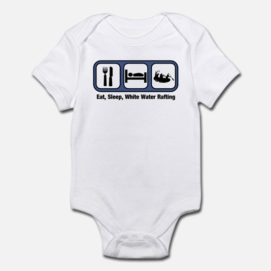 Eat, Sleep, White Water Rafti Infant Bodysuit