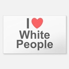 White People Decal