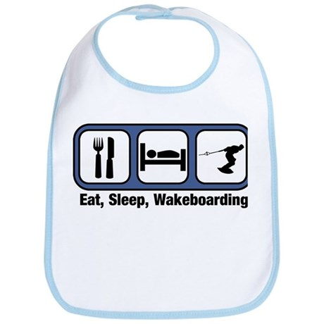 Eat, Sleep, Wakeboarding Bib