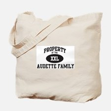 Property of Audette Family Tote Bag