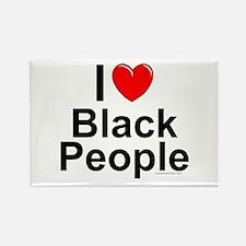 Black People Rectangle Magnet