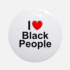 Black People Round Ornament