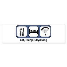 Eat, Sleep, Skydiving Bumper Car Sticker