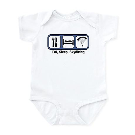 Eat, Sleep, Skydiving Infant Bodysuit