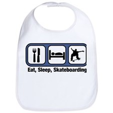 Eat, Sleep, Skateboarding Bib