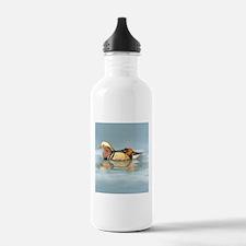 Wood Duck Watercolor Bird Water Bottle