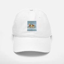 Wood Duck Watercolor Bird Hat