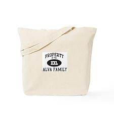 Property of Alva Family Tote Bag