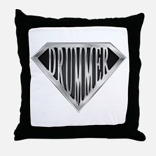 SuperDrummer(metal) Throw Pillow