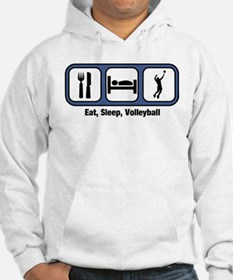 Eat, Sleep, Mens Volleyball Hoodie Sweatshirt