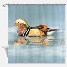 Wood Duck Watercolor Bird Shower Curtain