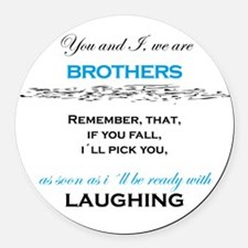 Brothers Round Car Magnet