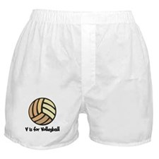V is for Volleyball Boxer Shorts