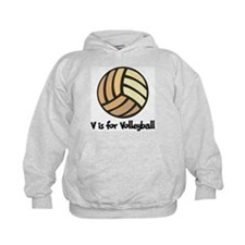 V is for Volleyball Hoodie