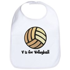 V is for Volleyball Bib