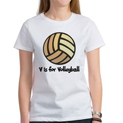 V is for Volleyball Women's T-Shirt