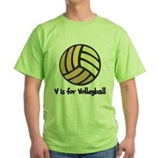 V is for Volleyball T-Shirt