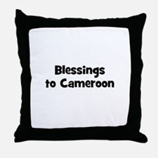 Blessings to Cameroon Throw Pillow