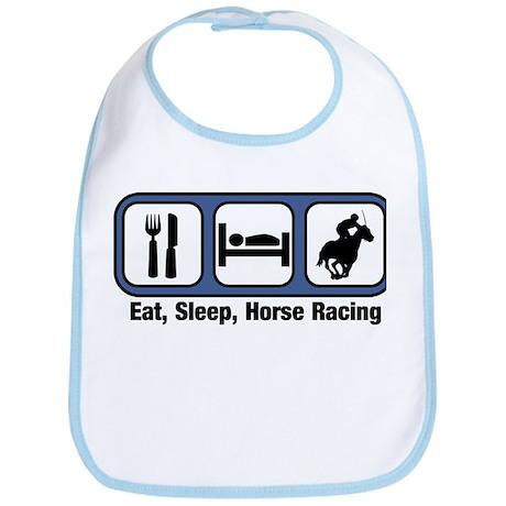 Eat, Sleep, Horse Racing Bib