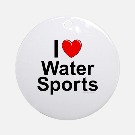 Water Sports Round Ornament