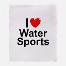 Water Sports Throw Blanket
