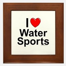 Water Sports Framed Tile