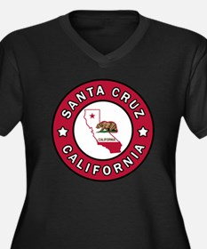 Funny California the golden state Women's Plus Size V-Neck Dark T-Shirt