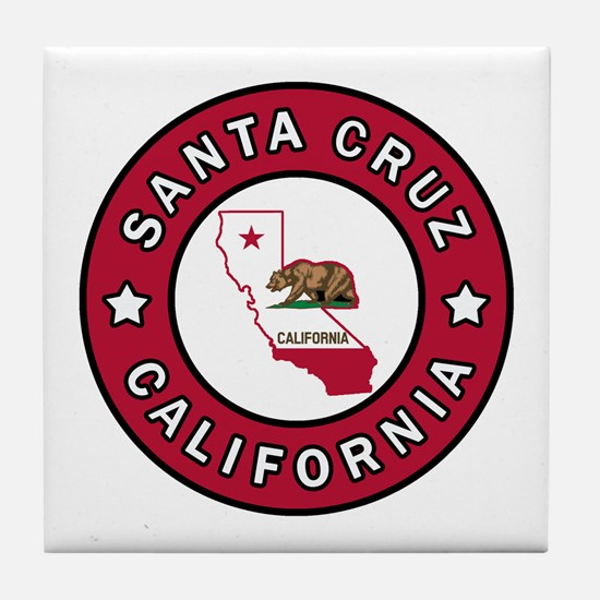 Cute California the golden state Tile Coaster