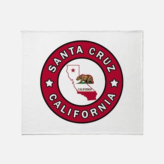 Santa Cruz California Throw Blanket
