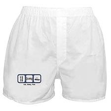 Eat, Sleep, Fish Boxer Shorts