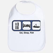 Eat, Sleep, Fish Bib
