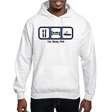 Eat, Sleep, Fish Hoodie Sweatshirt