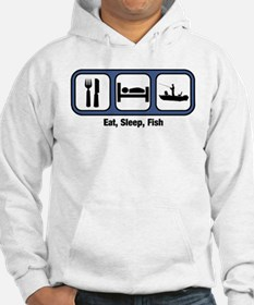 Eat, Sleep, Fish Hoodie Sweatshirt