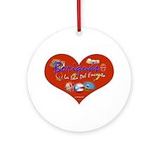 Boriquas Love La Isla... Ornament (Round)