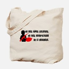 No más niños soldados Tote Bag