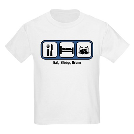 Eat, Sleep, Drum Kids Light T-Shirt