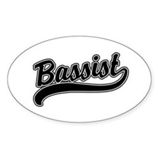 Bassist Oval Decal